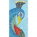 Peacock Head mosaic kit