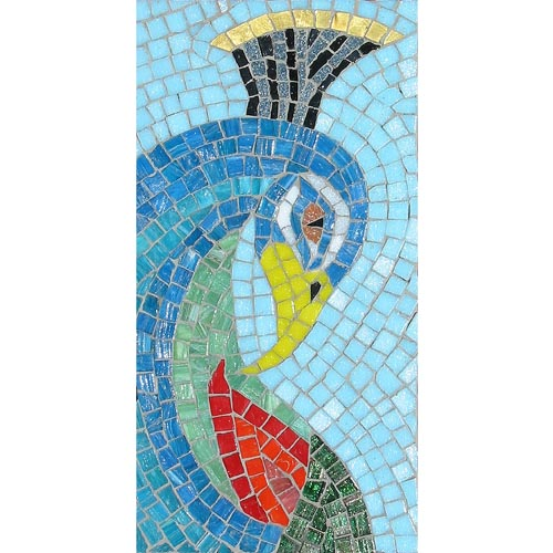 Peacock Head mosaic kit