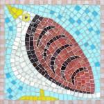 Pink Bird mosaic kit