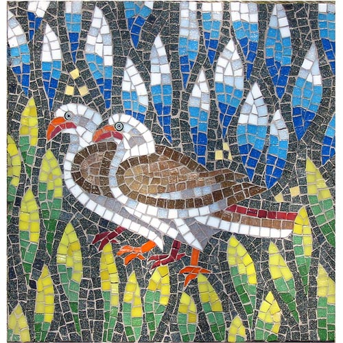Ravenna Doves Tabletop Mosaic Kit - Martin Cheek