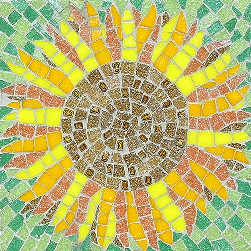 Sunflower mosaic kit