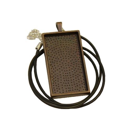 4.58cm x 2.5cm antique rectangular pendant