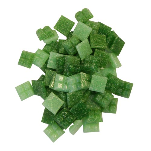 1cm x 1cm vitreous glass mosaic tiles green mix