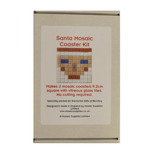 Santa mosaic coaster kit