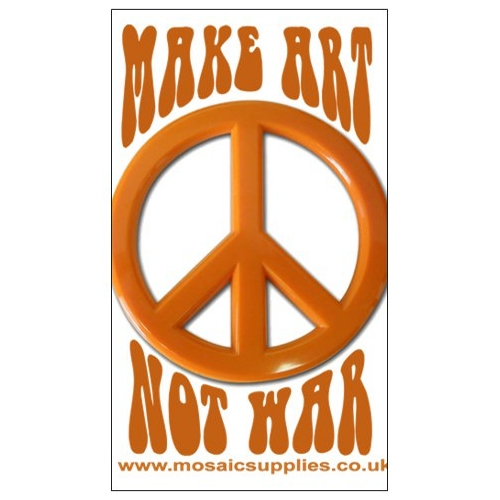 make art not war fridge magnet
