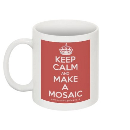 keep calm and make a mosaic mug