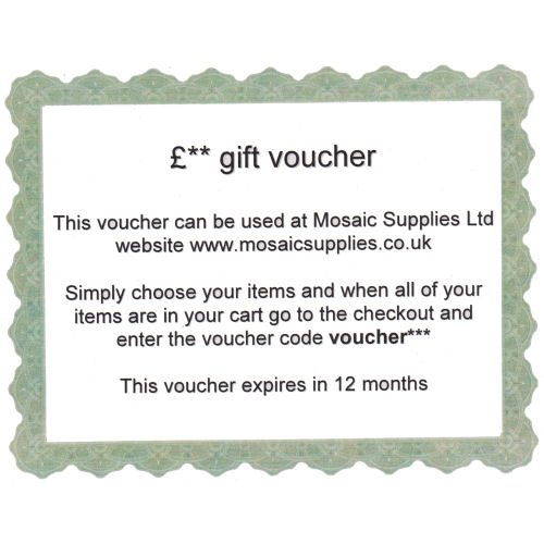 mosaic supplies gift vouch