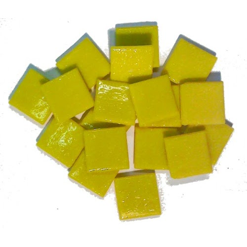 yellow mosaic tiles