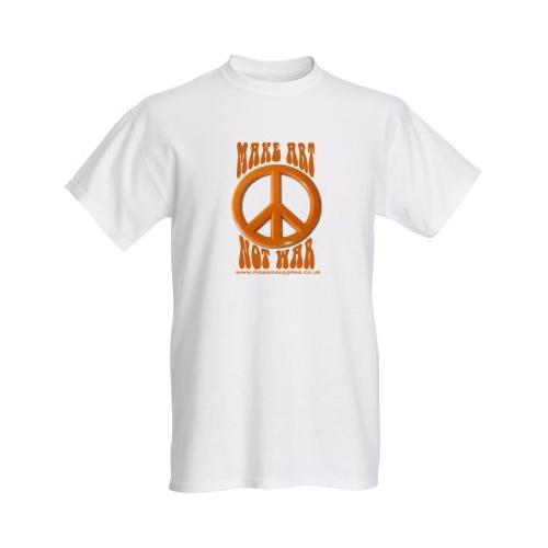 make art not war white tshirt