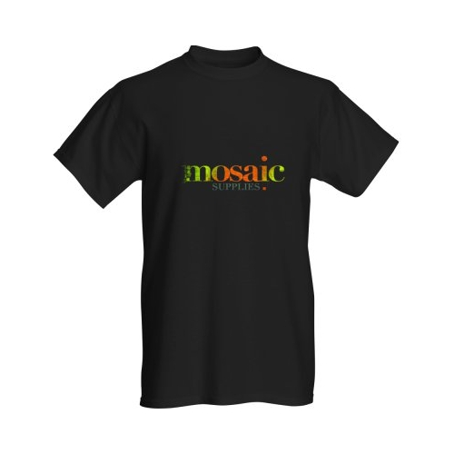 mosaic supplies black tshirt