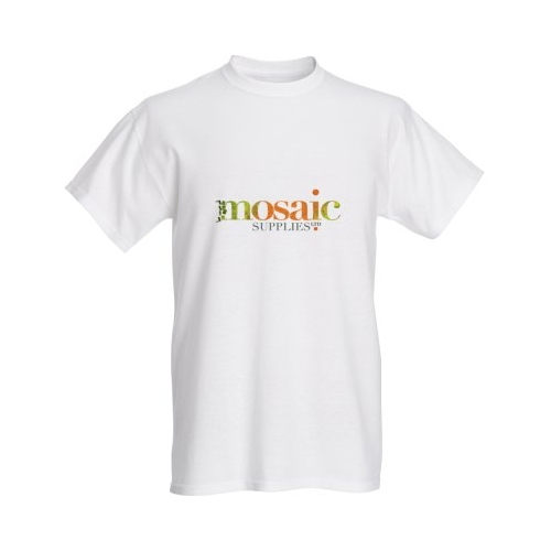 mosaic supplies white tshirt