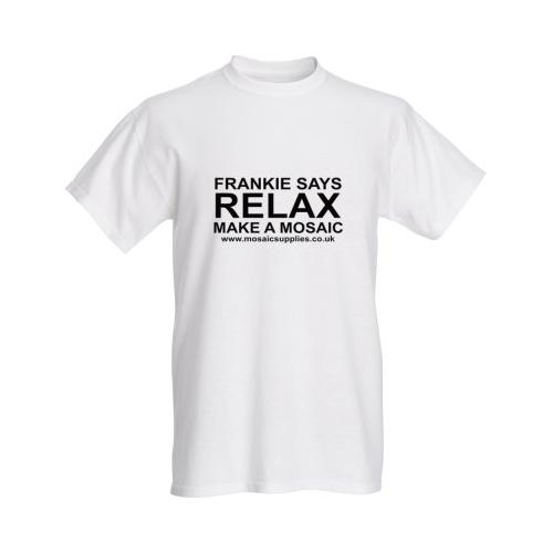 frankie says relax make a mosaic t-shirt