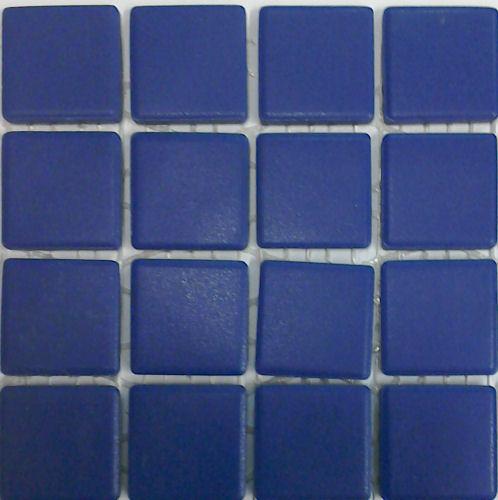 cobalt blue unglazed porcelain tiles