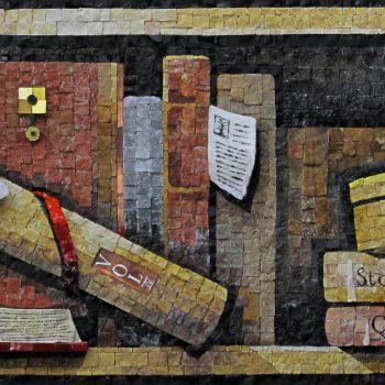 antichi libri, mosaic, luigi perotti mosaic