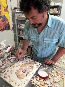 Luigi at work in his studio