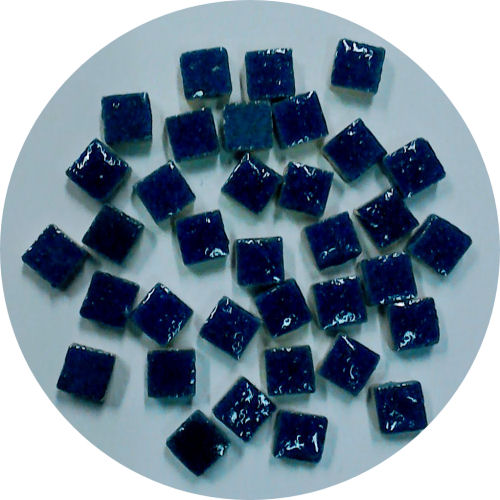 glazed blue micro tiles