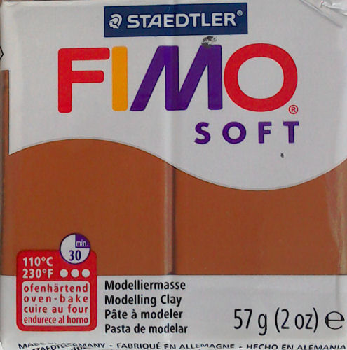 fimo soft polymer clay caramel
