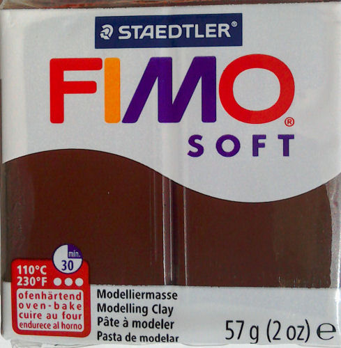 fimo soft chocolate clay