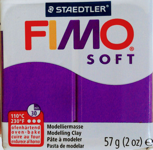 plum fimo soft polymer clay