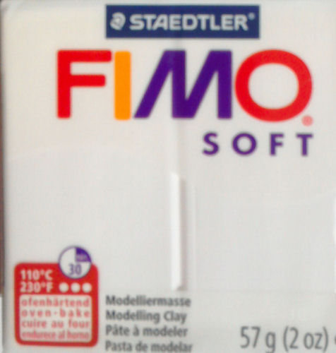 fimo soft oven bake polymer clay white