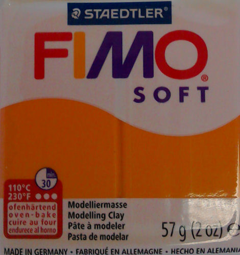 Fimo soft tangerine oven bake clay