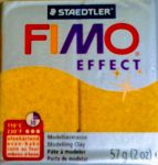 fimo efect glitter gold oven bake clay
