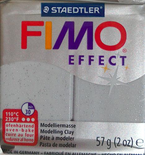 Fimo effect glitter silver