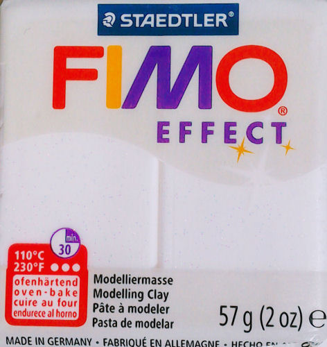 Fimo Effect glitter white polymer clay