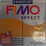 Fimo effect metallic gold clay