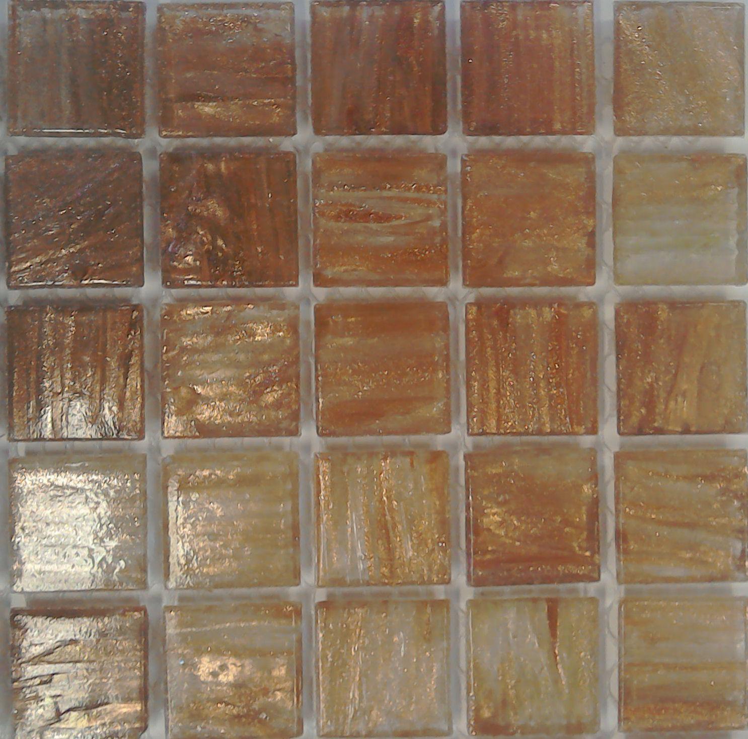 blush gold vein mosaic tiles