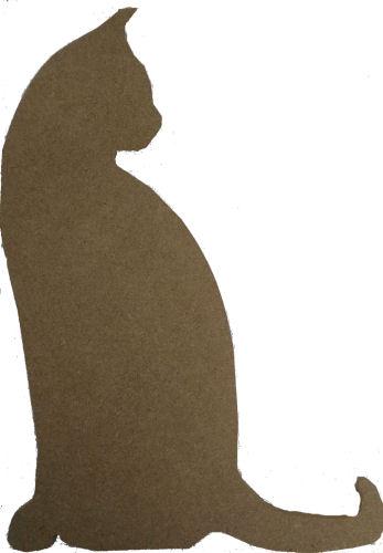 MDF cat shape