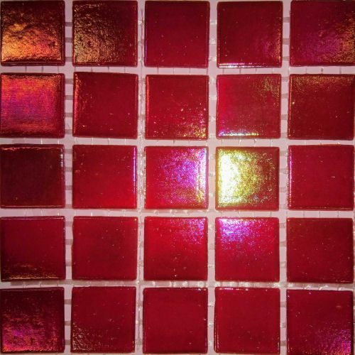 Iridescent red tiles