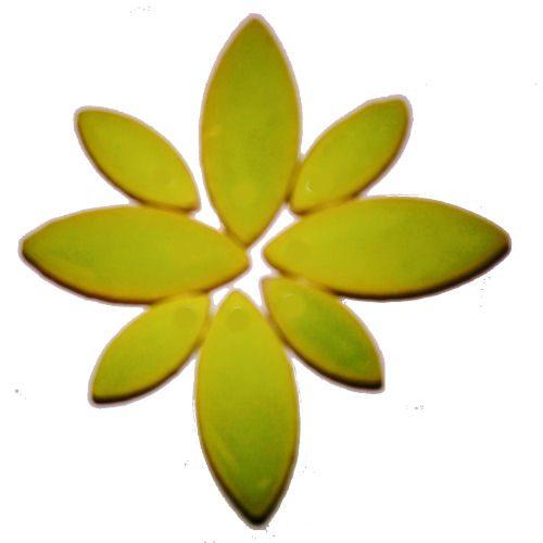 kiwi green ceramic petals