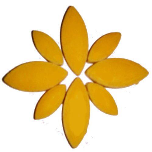 yellow ceramic petals for mosaics
