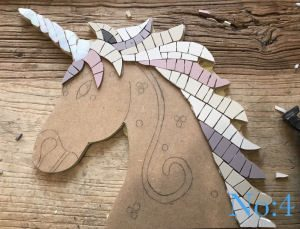 Unicorn head mosaic kit