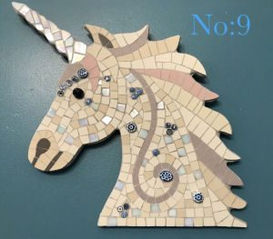 Unicorn head completed mosaic kit