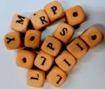 9mm cube wooden letter beads