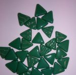 10mm green triangle tiles