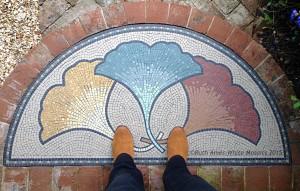 Ruths mosaic doorstep art