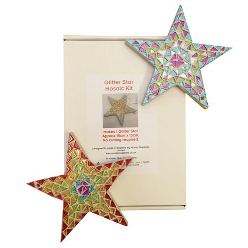 Glitter star mosaic kit