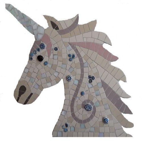 Unicorn head mosaic kit